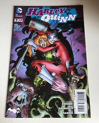 Harley Quinn The New 52 Dc Comic #007- Signed By Chad Hardin