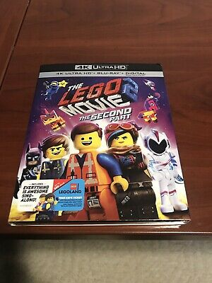 THE LEGO MOVIE 2 The Second Part (4K Ultra HD Blu-ray/Blu ray) with slipcover
