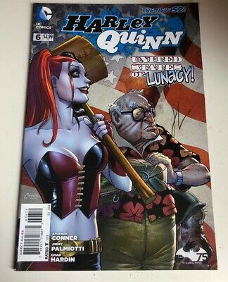 Harley Quinn United States Of Lunacy Dc Comic #006 -Signed By Chad Hardin