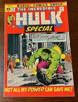 The Incredible Hulk Special #4 1971 Bronze Age Marvel Comic
