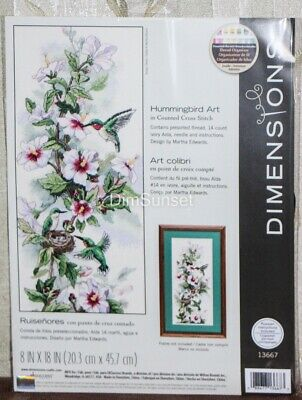 Dimensions Counted Cross Stich Hummingbird Art 13667