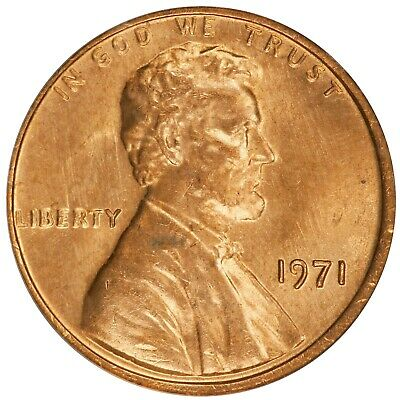 1971 Lincoln Cent- Doubled Die Obverse FS-101 DDO-001 ANACS MS 64 RED