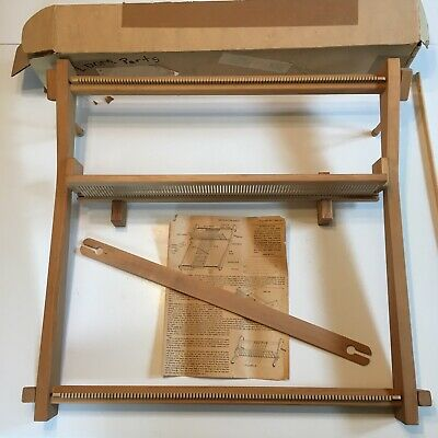 "Vintage 1977 Beka Rigid Heddle Frame Loom and Instructions 24"" Table Top"
