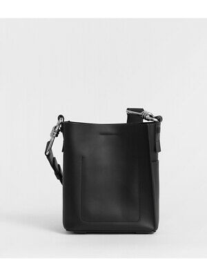 Please check desc AllSaints RRP £178 Captain Leather North South Crossbody Bag