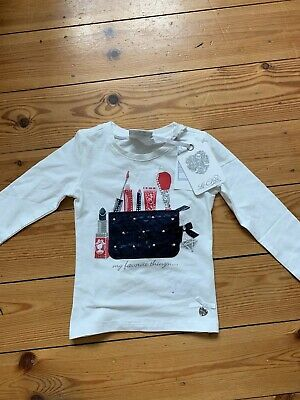 New Le Chic Girls White Lipstick Long Sleeved Top Age  2 Years Rep: £39