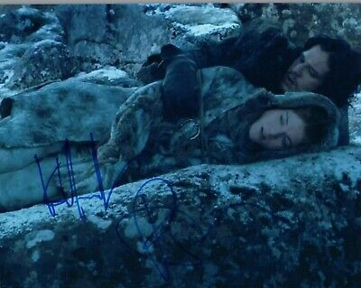 Kit Harington & Rose Leslie Signed Autographed 8x10 Photo GAME OF THRONES COA VD