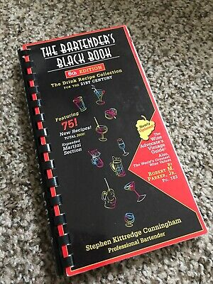 The Bartender's Black Book by Stephen Kittredge Cunningham 6th Edition