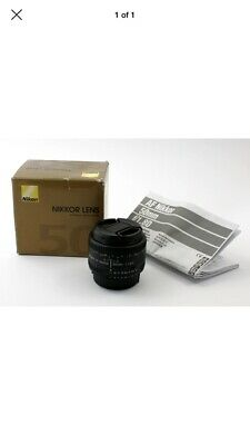 Nikon Nikkor AF 50mm F/1.8D Lens. Excellent condition, boxed with manual.