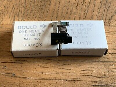 Lot Of 2 New! Gould Overload Relay Thermal Heater Elements M33 G30M33
