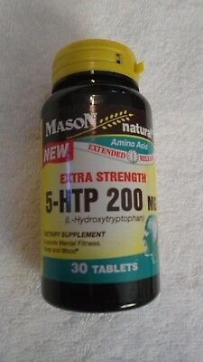 Mason Natural Extra Strength 5-HTP 200 mg Extended Release 30 Tablets