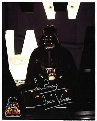 Star Wars Celebration III Official Pix Darth Vader Dave Prowse Autograph 8 x 10