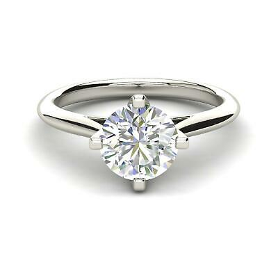 1 Carat Diamond Solitaire Engagement Ring Si1 D White Gold 14k 6270 Sales Of Quality Assurance Engagement & Wedding Fine Jewelry