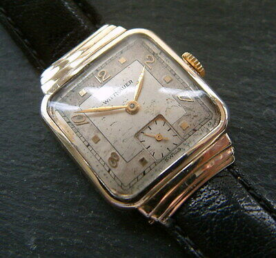 Vintage Art Deco Styled 1940's  (Longines) WITTNAUER Watch; Serviced