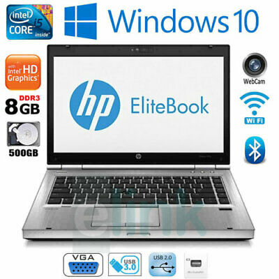 HP Elitebook 8470p Intel Core i5-3320M 2.60GHz 8GB 500GB HDD DVDRW
