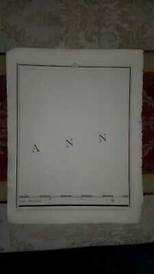 1794 - John Cary map genuine item map 7 English channel