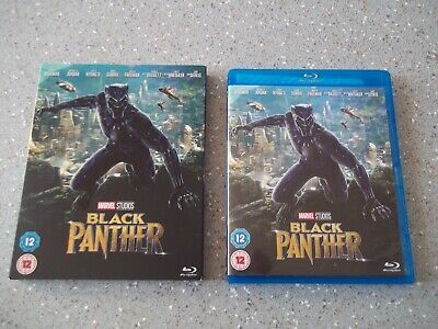 MARVEL BLU RAY ~ BLACK PANTHER ~ with SLIP COVER ~HAVE LOTS MORE MARVEL BLU RAYS