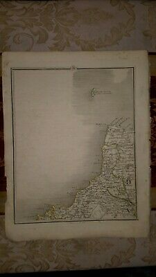 1794 - John Cary map genuine item map 11  Lundy island padstow