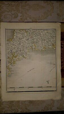 1794 - John Cary map genuine item map 2 Falmouth cornwall