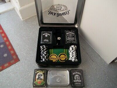 5 DIFFERENT GENUINE  JACK DANIELS POKER CHIPS   FROM 2008//12