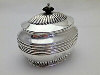 Antique Sterling Solid Silver Tea Caddy Box 1897 (1117-9-VON)