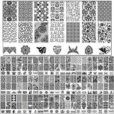 New Design DIY Nail Art Image Stamp Stamping Plates Manicure Template Tools AC