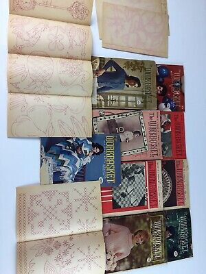 7 Workbasket home needlecraft magazine vtg books 1963-1974 knit crochet recipes