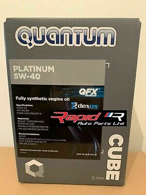 Quantum Platinum 5W-40 Fully Synthetic Engine Oil 5 Litre Free Postage