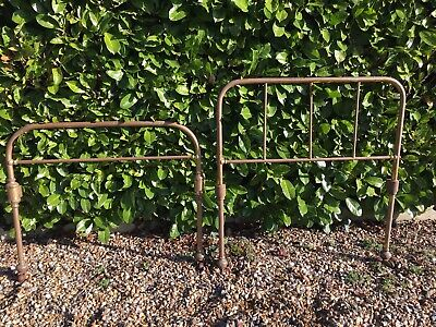 Antique Single Brass Bed Ends
