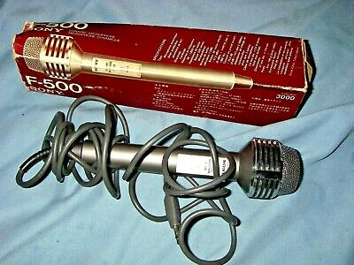 Collectible Vintage Sony F-500 Microphone. Dynamic Microphone