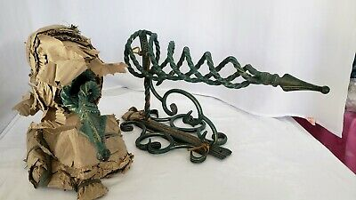 Vintage Wrought Iron wall sconces pair NEW