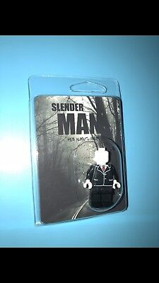 Slender Man With Weapons Minifigure Horror Figure For Custom Lego Minifigures