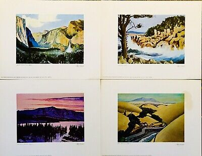 Four Northern California Prints—Watercolors By Floyd Hildebrand [Ca.s&L 1970]