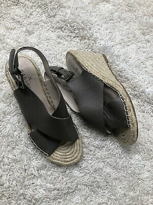 355c8c67047 CASLON SHOES WEDGES Espadrille Suede Leather Ankle String Straps Sz ...