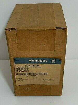 Factory Sealed! Westinghouse Thermal Overload Relay Aa33Ab 3 Pole Nema Size 3