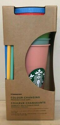 Starbucks Color Changing Cold Cups SINGLE Cups & 5 Pack Summer 2019 24oz