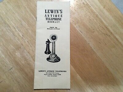 Early 1960s LEWIN'S ANTIQUE TELEPHONE Catalog Booklet Prairie Village KS Book