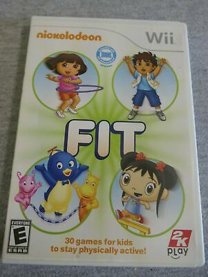NINTENDO WII NICKELODEON Wii Fit Video Game Fitness