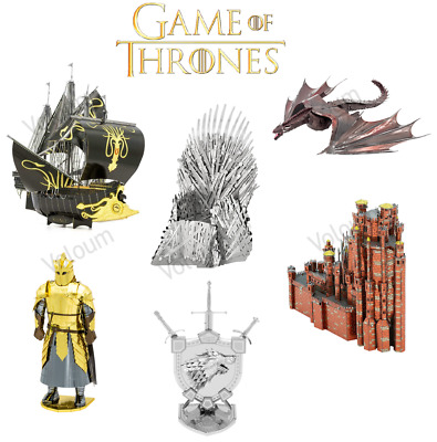 Game of Thrones Metal Earth ICONX 3D Steel Model Iron Throne Drogon Puzzle Kits
