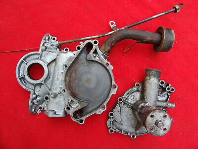 62 63 FORD V8 Timing Chain Cover Dip Stick Alum Water Pump Used Parts sb 260 289