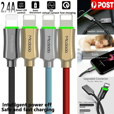 Auto-disconnect Lightning USB Cable Data for iPhone 5 6 7 8 + X Mcdodo