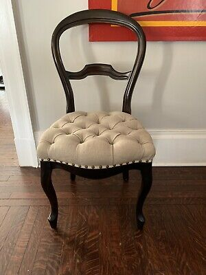 NEW Anthropologie muted black Emma Floral Upholstery Terai Folding Chair