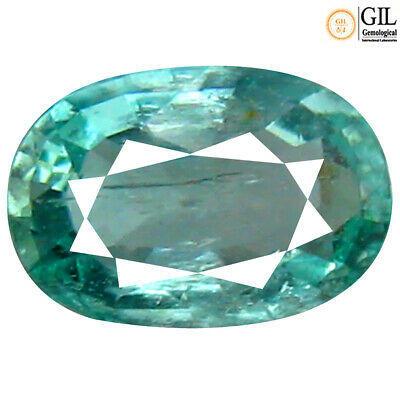 0.44 ct GIL CERTIFIED BEAUTIFUL OVAL CUT (6 X 4 MM) COLOMBIA EMERALD LOOSE STONE