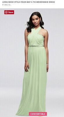 7f64375dac07 Davids Bridal Long Mesh Style Your Way Bridesmaids Dress Meadow Green 6 Used