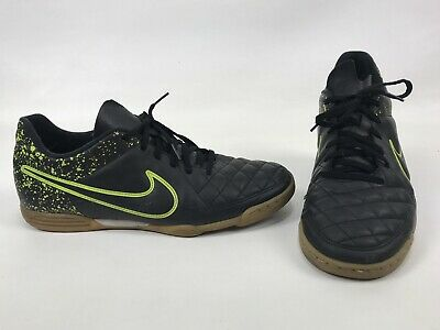 sports shoes 25cdd b092f Nike Tiempo Rio II IC Black Volt Green Indoor Soccer Shoes 631523-007 Mens  11