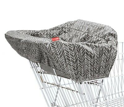 BRAND NEW Shopping Cart High Chair Cover By SKIP HOP Grey Feather Take Cover