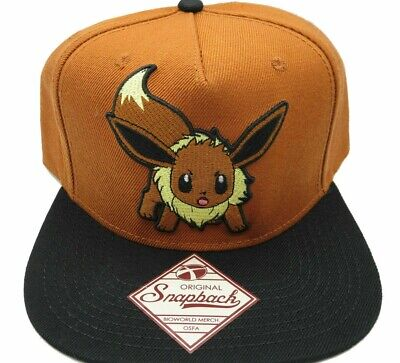 Pokemon Eevee Brown Nintendo Retro Vintage Style Snapback Hat