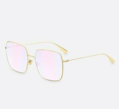 fc9a3a401c New!! Christian Dior Stellaire 1 Gold   Iridescent Pink Sunglasses 000 TE  000TE