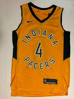 cheap for discount 3b082 fd94f NWT 2018-2019 NIKE NBA Indiana Pacers Victor Oladipo 4 ...