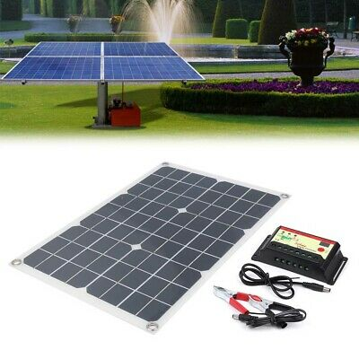 20W 18V Flexible Solar Panel +Charger Controller For Motorhome Car Boats Roof