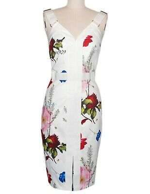 455592a70acd BRAND NEW ALICE + Olivia DELORA FITTED MOCK NECK MIDI DRESS TEXTURED ...